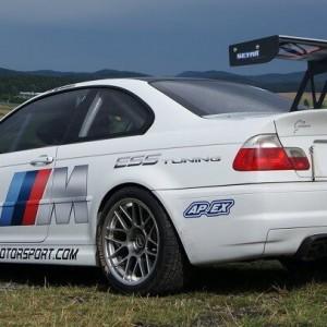 Nurburgring BMW M3 E46 rental rear side